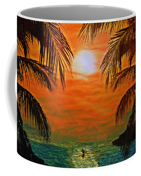 Ocean Kayaker Coffee Mug featuring the photograph Ocean Kayaker by Bill Cannon