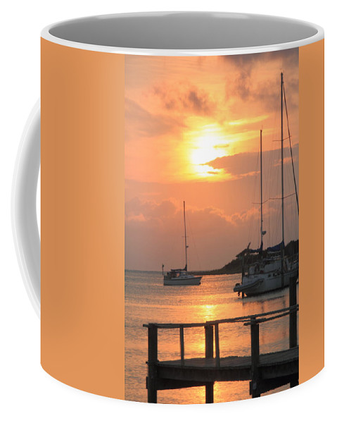 Sunset Coffee Mug featuring the photograph Ocracoke Island Harbor Sunset by Roupen Baker