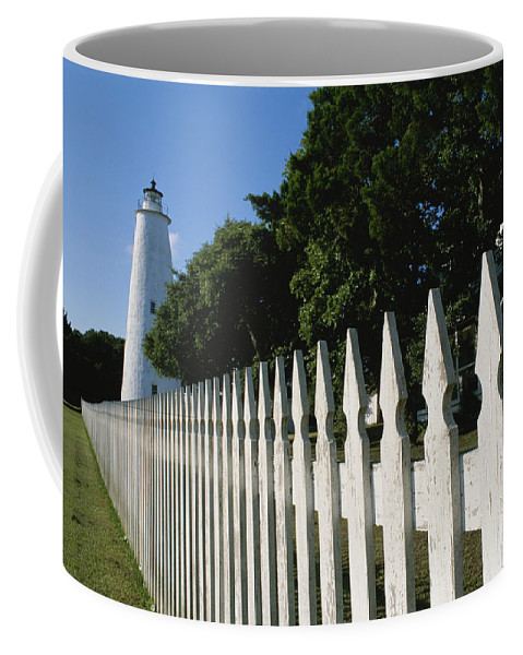 North America Coffee Mug featuring the photograph Ocracoke Lighthouse by Brian Gordon Green