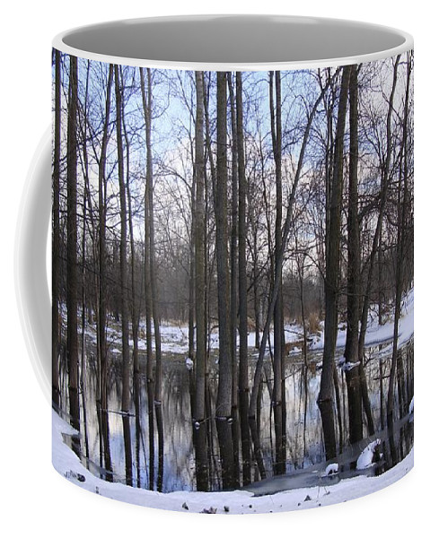 Ice Coffee Mug featuring the photograph Okemos by Joseph Yarbrough