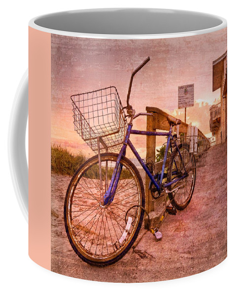 Clouds Coffee Mug featuring the photograph Ol' Bike by Debra and Dave Vanderlaan