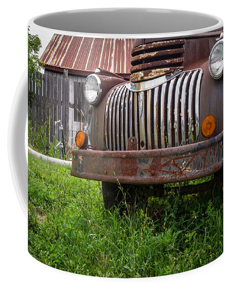 Vermont Coffee Mug featuring the photograph Old Abandoned Pickup Truck by Edward Fielding