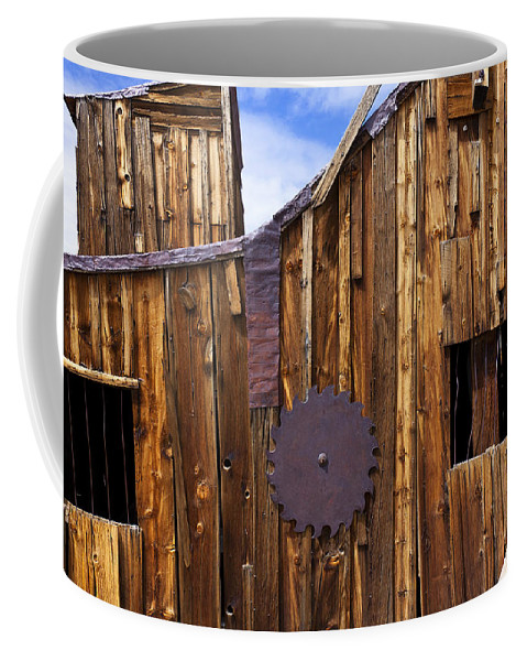 Wooden Coffee Mug featuring the photograph Old Building Bodie Ghost Town by Garry Gay