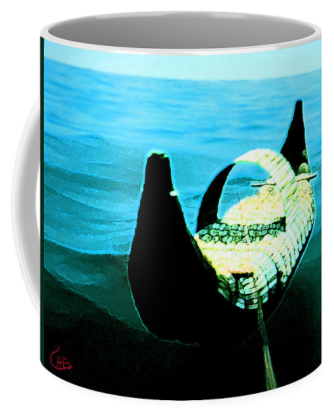 Colette Coffee Mug featuring the painting Old Egypt Handmade Boat by Colette V Hera Guggenheim
