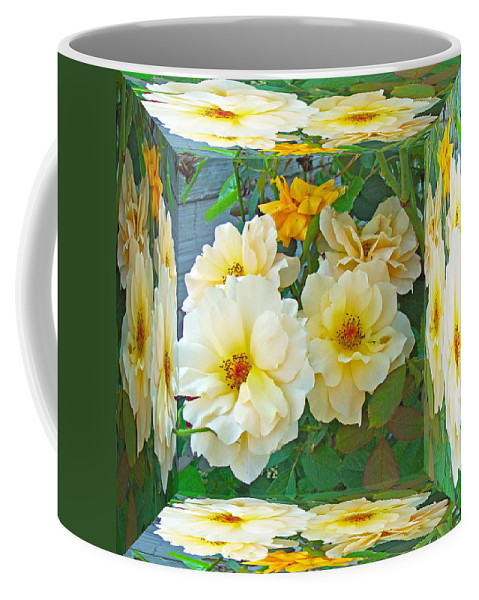Rose Coffee Mug featuring the photograph Old Fashioned Yellow Rose - Mirror Box by Mother Nature