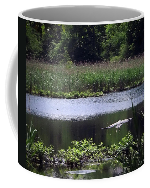2d Coffee Mug featuring the photograph Old Fishing Hole by Brian Wallace