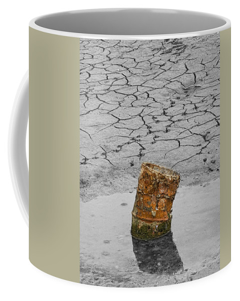 Barrel Coffee Mug featuring the photograph Old Rusted Barrel Abstract by James BO Insogna