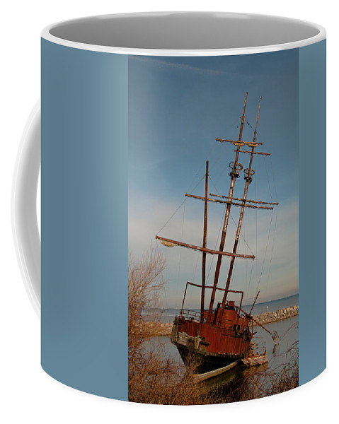 Boats Coffee Mug featuring the photograph Old Rusty by Guy Whiteley