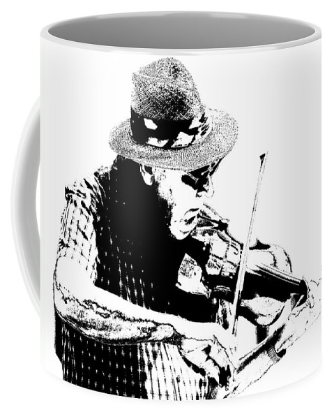 Art Coffee Mug featuring the photograph Old Time Fiddle Player No.560 by Randall Nyhof