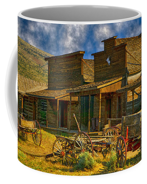 Old Town Coffee Mug featuring the photograph Old Town Cody Wyoming by Garry Gay