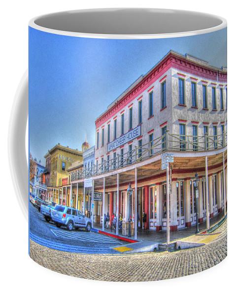 Street Corner Coffee Mug featuring the photograph Old Towne Sacramento by Barry Jones