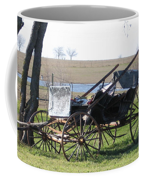 Coffee Mug featuring the photograph Old Wagon by Amy Hosp