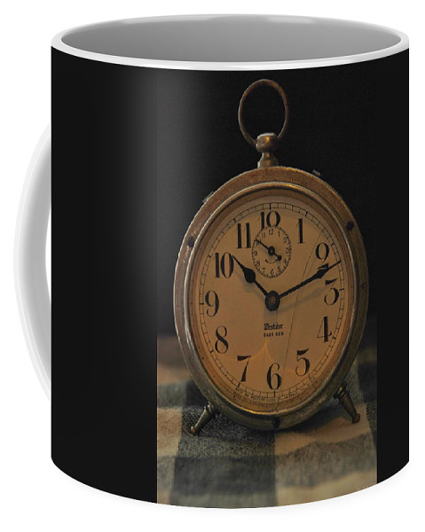 Clock Coffee Mug featuring the photograph Old Westclock by Rob Hans