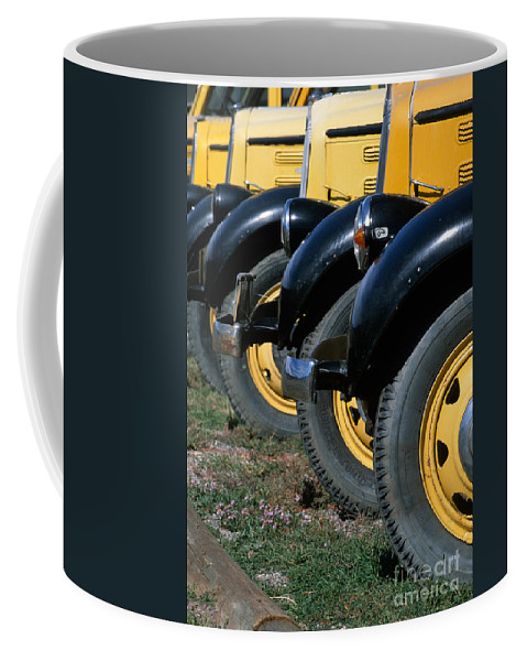 Bronstein Coffee Mug featuring the photograph Old Yellowstone Coaches by Sandra Bronstein