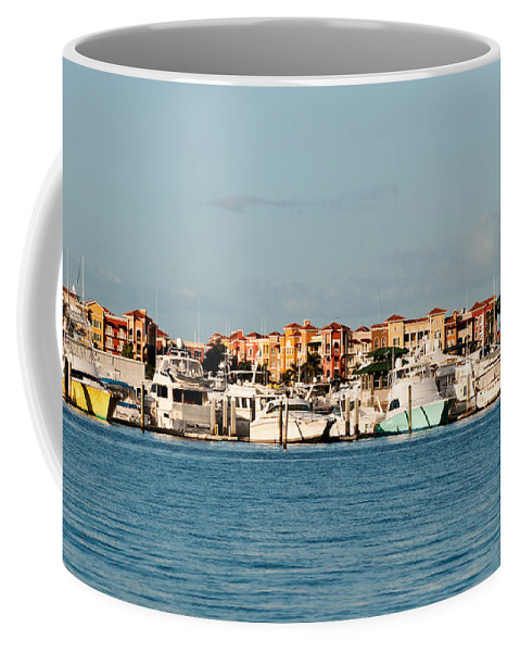 Boats Coffee Mug featuring the photograph Olde Naples Seaport by Christine Stonebridge