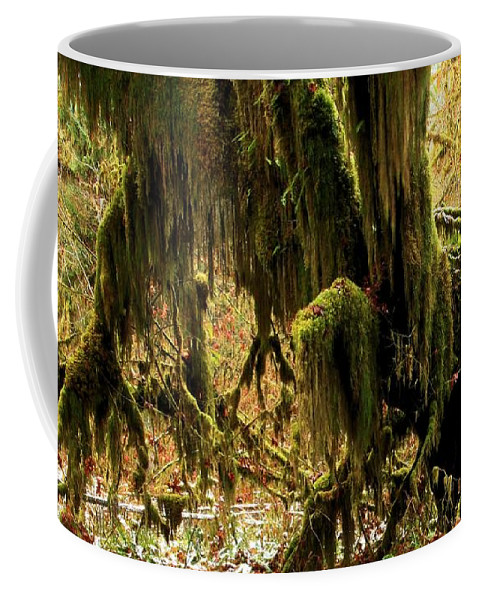 Hoh Rainforest Coffee Mug featuring the photograph Olympic Moss by Adam Jewell