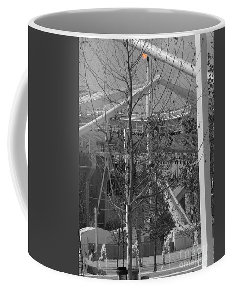 Summer Olympics Coffee Mug featuring the photograph Olympic Torch - Athens Summer Games by David Bearden