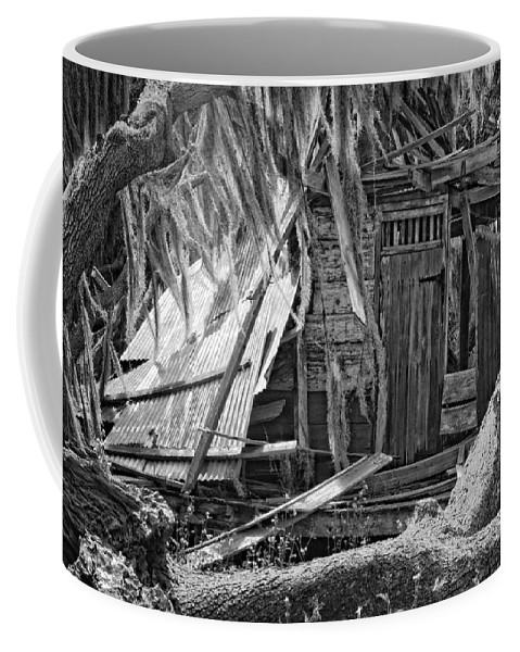 Evergreen Plantation Coffee Mug featuring the photograph On Evergreen Platation Black And White by Kathleen K Parker