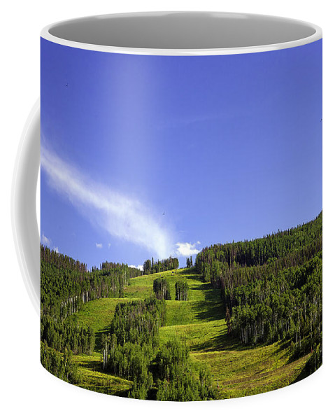 Colorado Coffee Mug featuring the photograph On Vail Mountain II by Madeline Ellis