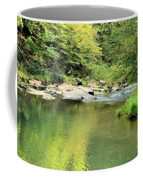 One Coffee Mug featuring the photograph One Of Those Peaceful Places by Maria Urso