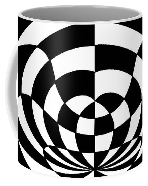 Op Art 2 Coffee Mug featuring the painting Op Art 2 by Methune Hively
