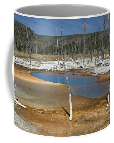 Bronstein Coffee Mug featuring the photograph Opalescent Pool Of Yellowstone by Sandra Bronstein