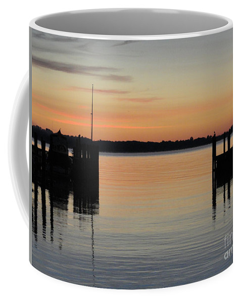 River Coffee Mug featuring the photograph Orange September River by Meandering Photography