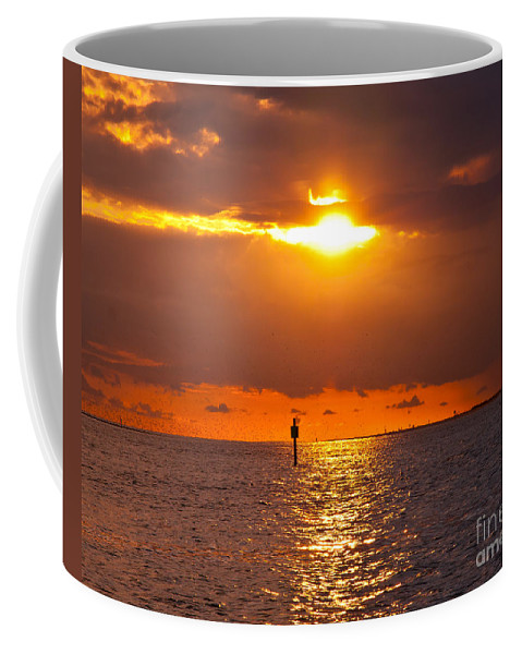 Sunset Coffee Mug featuring the photograph Orange Sky by Stephen Whalen