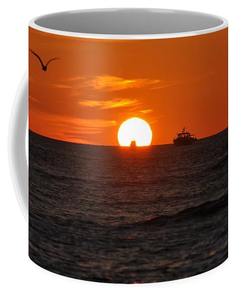 Sunset Coffee Mug featuring the photograph Orange Sunset II by Christine Stonebridge