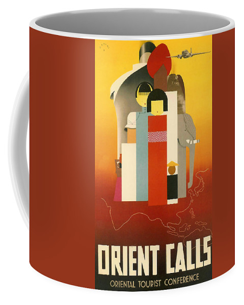 Orient Coffee Mug featuring the digital art Orient Calls by Georgia Fowler