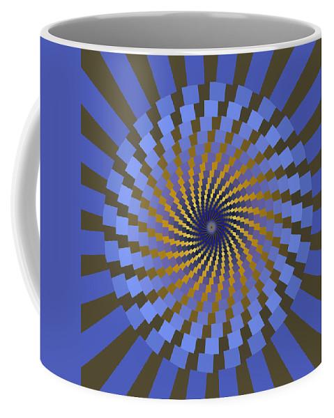 Fractal Coffee Mug featuring the digital art Ornament 2 by Mark Greenberg