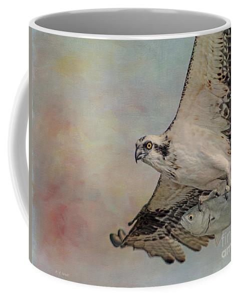 Osprey Coffee Mug featuring the photograph Osprey And Fish by Deborah Benoit