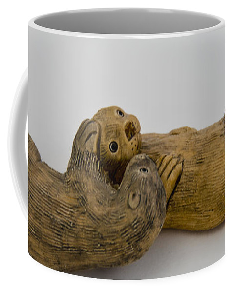 Usa Coffee Mug featuring the photograph Otter Love This by LeeAnn McLaneGoetz McLaneGoetzStudioLLCcom