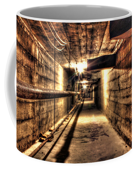 Coffee Mug featuring the photograph Our Lady Queen Of Angels Tunnels Detroit Mi by Nicholas Grunas