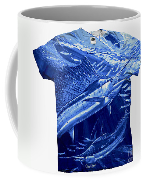 Carey Chen Clothing Coffee Mug featuring the digital art Out Of Sight Mens Blue Shirt by Carey Chen