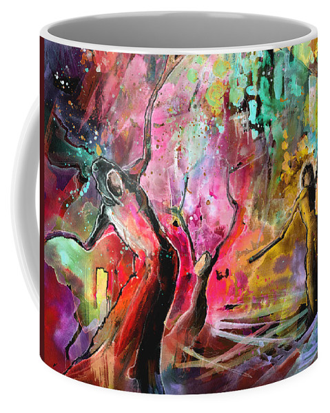 Fantascape Coffee Mug featuring the painting Outcast by Miki De Goodaboom