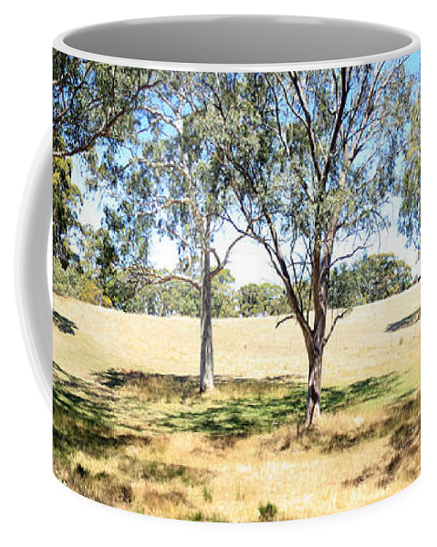 Tree Coffee Mug featuring the photograph Over The Fence by Stephen Mitchell
