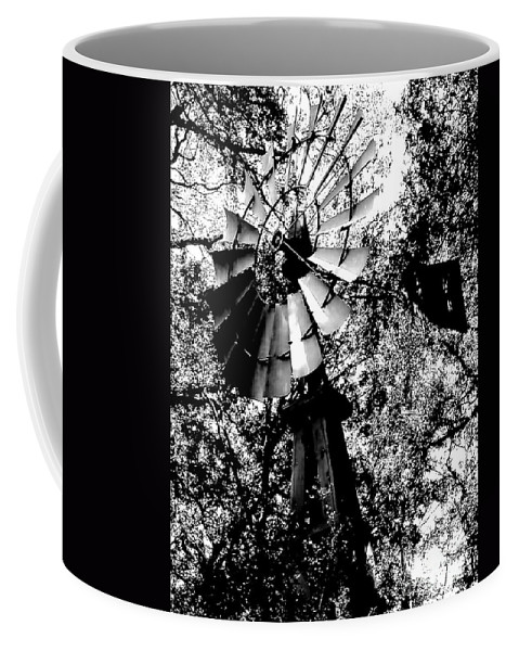 Windmill Coffee Mug featuring the photograph Overgrown Windpump by Robert Frederick