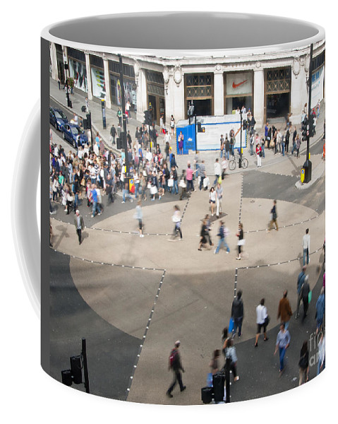 Britain Coffee Mug featuring the photograph Oxford Circus by Andrew Michael