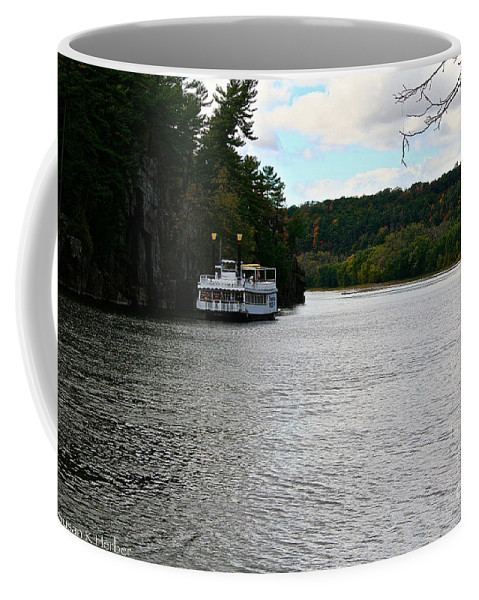 Landscape Coffee Mug featuring the photograph Paddle Boat by Susan Herber