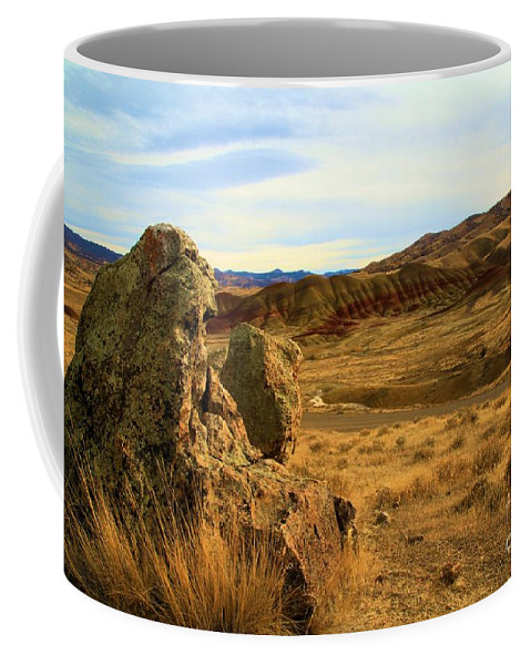 John Day Fossil Beds Coffee Mug featuring the photograph Painted Afternoon by Adam Jewell