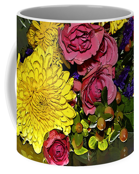 Flowers Coffee Mug featuring the photograph Painted Bouquet by Phyllis Denton
