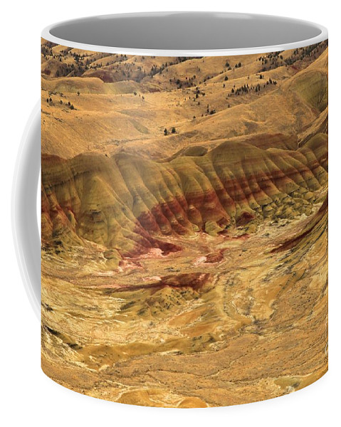 John Day Fossil Beds Coffee Mug featuring the photograph Painted Hills by Adam Jewell