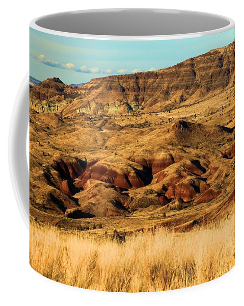 John Day Fossil Beds National Monument Coffee Mug featuring the photograph Painted Hills In Sheep Rock by Adam Jewell