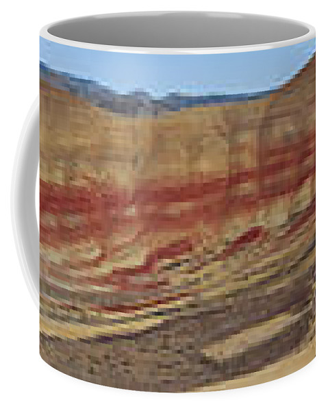 Sweeping Coffee Mug featuring the photograph Painted Hills Panoramic by Karen Ulvestad