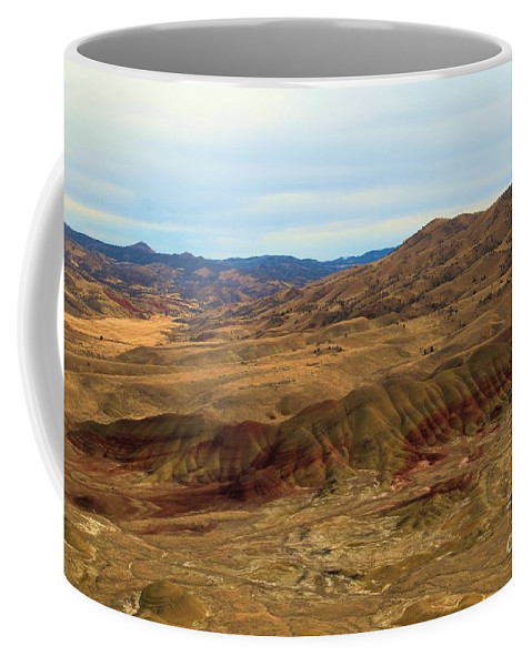 John Day Fossil Beds Coffee Mug featuring the photograph Painted Landscape by Adam Jewell