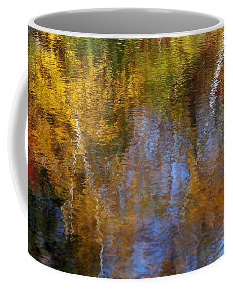 Autumn Coffee Mug featuring the photograph Painted River by Bill Morgenstern