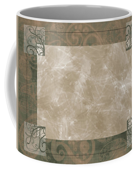 Greeting Card Coffee Mug featuring the digital art Paisly Print Greeting Card Blank by Debbie Portwood