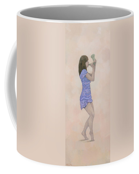 Original Coffee Mug featuring the painting Palantines Herald by Steve Mitchell