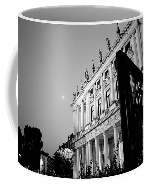 Vicenza Coffee Mug featuring the photograph Palazzo Chiericati By Night by Donato Iannuzzi
